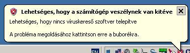 Balfasz üzenet a magyar Windows XP-ből