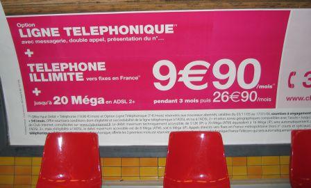 ADSL plakát Párizsban