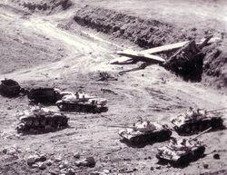 Kilőtt tankok a Golán fennsíkon