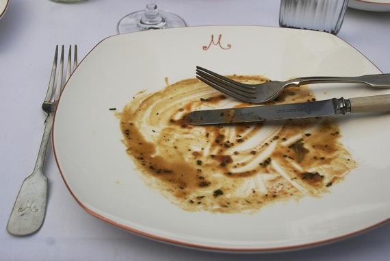 Kacsamáj utáni tányér az M on the Bundban