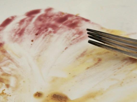Rebarbarás-körtés-gyömbéres torta maradványa az M on the Bundban