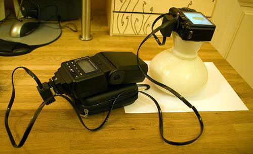 Fénysátor setup
